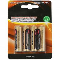 Batterij - Aigi Azo - AA/LR06 - 1.5V - Alkaline Batterijen - 4 Stuks