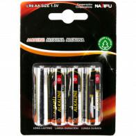 Batterij - Aigi Baty - AA/LR06 - 1.5V - Alkaline Batterijen - 4 Stuks
