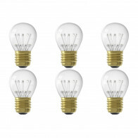 CALEX - LED Lamp 6 Pack - Kogellamp P45 - E27 Fitting - 1W - Warm Wit 2100K - Transparant Helder