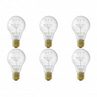 CALEX - LED Lamp 6 Pack - Pearl A60 - E27 Fitting - 1W - Warm Wit 2100K - Transparant Helder