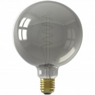 CALEX - LED Lamp - Globe - Filament G125 - E27 Fitting - Dimbaar - 4W - Warm Wit 2100K - Titanium