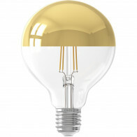CALEX - LED Lamp - Globe - Filament G95 Kopspiegellamp - E27 Fitting - Dimbaar - 4W - Warm Wit 2300K - Goud