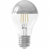 CALEX - LED Lamp - Kogelspiegellamp Filament A60 - E27 Fitting - 4W - Warm Wit 2300K - Chroom