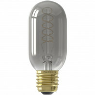CALEX - LED Lamp - LED Buislamp - Filament - E27 Fitting - Dimbaar - 4W - Warm Wit 2100K - Titanium