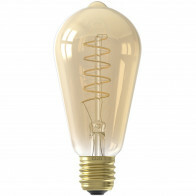 CALEX - LED Lamp - Rustiek - Filament ST64 - E27 Fitting - Dimbaar - 4W - Warm Wit 2100K - Amber