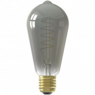 CALEX - LED Lamp - Rustiek - Filament ST64 - E27 Fitting - Dimbaar - 4W - Warm Wit 2100K - Titanium