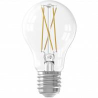 CALEX - LED Lamp - Smart LED A60 - E27 Fitting - Dimbaar - 7W - Aanpasbare Kleur - Transparant Helder