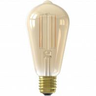CALEX - LED Lamp - Smart LED ST64 - E27 Fitting - Dimbaar - 7W - Aanpasbare Kleur CCT - Goud