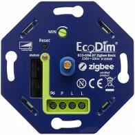 EcoDim - LED Dimmer - Smart WiFi - ECO-DIM.07 - Fase Afsnijding RC - ZigBee - Inbouw - Enkel Knop - 0-200W