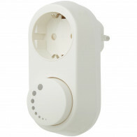 EcoDim - LED Stekkerdimmer - ECO-DIM.06 - Fase Afsnijding RC - Opbouw - Enkel Knop - 0-150W - Wit