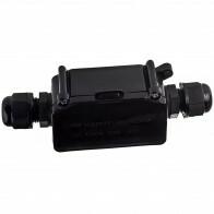 Kabelverbinder - Viron Thermin - Rechte Connector - Waterdicht IP65 - 3 Aderig - Mat Zwart