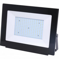 LED Bouwlamp 150 Watt - LED Schijnwerper - Aigi Iglo - Helder/Koud Wit 6400K - Waterdicht IP65 - Mat Zwart - Aluminium