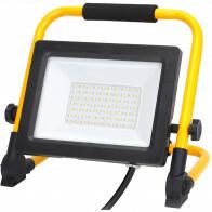 LED Bouwlamp met Statief - Aigi Esol - 50 Watt - Helder/Koud Wit 6500K - Spatwaterdicht IP44 - Kantelbaar