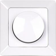 LED Dimmer - Aigi - Inbouw - Enkel Knop - 3-60W - Wit