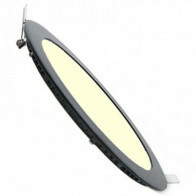 LED Downlight Slim - Inbouw Rond 3W - Dimbaar - Warm Wit 3000K - Mat Zwart Aluminium - Ø90mm