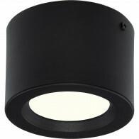 LED Downlight - Opbouw Rond Hoog 5W - Natuurlijk Wit 4200K - Mat Zwart Aluminium - Ø105mm