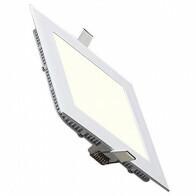 LED Downlight Slim - Inbouw Vierkant 12W - Natuurlijk Wit 4200K - Mat Wit Aluminium - 170mm