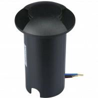 LED Grondspot - Viron Zerda - 1W - Inbouw - Rond - Warm Wit 3000K - Waterdicht IP67 - Mat Zwart - Kunststof