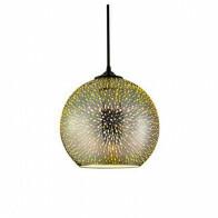 LED Hanglamp 3D - Quanta - Rond - Chroom Glas - E27