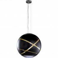 LED Hanglamp - Hangverlichting - Trion Fary - E27 Fitting - 1-lichts - Rond - Mat Zwart - Aluminium