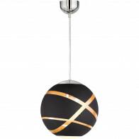 LED Hanglamp - Hangverlichting - Trion Fary - E27 Fitting - 1-lichts - Rond - Mat Zwart - Glas