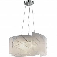 LED Hanglamp - Hangverlichting - Trion Sandra - E27 Fitting - 3-lichts - Rond - Mat Wit - Glas
