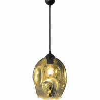 LED Hanglamp - Meteorum XL - Ovaal - Chroom Glas - E27
