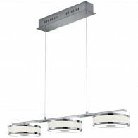 LED Hanglamp - Trion Agiany - 21W - Warm Wit 3000K - 3-lichts - Dimbaar - Rechthoek - Mat Nikkel - Aluminium