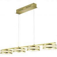 LED Hanglamp - Trion Agiany - 28W - Warm Wit 3000K - 4-lichts - Dimbaar - Rechthoek - Mat Goud - Aluminium