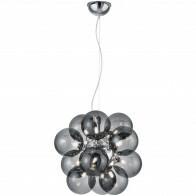 LED Hanglamp - Trion Alionisa - G9 Fitting - 12-lichts - Rond - Glans Chroom Rookglas - Aluminium