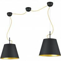 LED Hanglamp - Trion Andra - E27 Fitting - 2-lichts - Rond - Mat Zwart - Aluminium