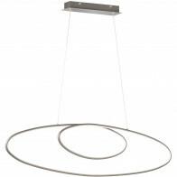 LED Hanglamp - Trion Avinus - 35W - Warm Wit 3000K - Dimbaar - Ovaal - Mat Nikkel - Aluminium