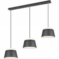 LED Hanglamp - Trion Barnaness - E14 Fitting - 6-lichts - Rond - Mat Zwart - Aluminium
