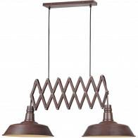 LED Hanglamp - Trion Detrino - E27 Fitting - 2-lichts - Rond - Roestkleur - Aluminium