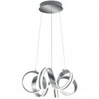 LED Hanglamp - Trion Katra - 38W - Warm Wit 3000K - Dimbaar - Rond - Mat Grijs - Aluminium