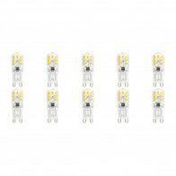 LED Lamp 10 Pack - Aigi Yvona - G9 Fitting - 2.5W - Warm Wit 3000K - Mat Wit - Kunststof