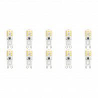LED Lamp 10 Pack - Aigi Yvona - G9 Fitting - 2.5W - Warm Wit 3000K - Mat Wit - Kunststof