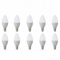 LED Lamp 10 Pack - E14 Fitting - 6W - Helder/Koud Wit 6400K