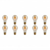 LED Lamp 10 Pack - Facto - Filament Bulb - E27 Fitting - Dimbaar - 7W - Warm Wit 2700K