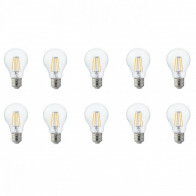 LED Lamp 10 Pack - Filament - E27 Fitting - 6W - Natuurlijk Wit 4200K