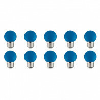 LED Lamp 10 Pack - Romba - Blauw Gekleurd - E27 Fitting - 1W