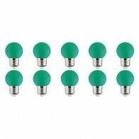 LED Lamp 10 Pack - Romba - Groen Gekleurd - E27 Fitting - 1W