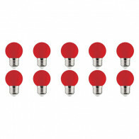 LED Lamp 10 Pack - Romba - Rood Gekleurd - E27 Fitting - 1W
