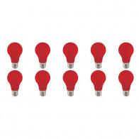 LED Lamp 10 Pack - Specta - Rood Gekleurd - E27 Fitting - 3W