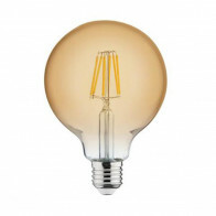 LED Lamp - Filament Rustiek - Globe - E27 Fitting - 6W - Warm Wit 2200K