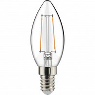 LED Lamp - Filament - Sanola Syno - 2W - E14 Fitting - Warm Wit 2700K - Transparent Helder - Glas