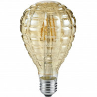 LED Lamp - Filament - Trion Topus - 4W - E14 Fitting - Warm Wit 2700K - Amber - Aluminium