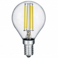 LED Lamp - Filament - Trion Topus - 4W - E14 Fitting - Warm Wit 3000K - Transparent Helder - Aluminium