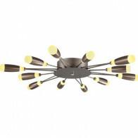 LED Plafondlamp - Plafondverlichting - Fave - 62W - Natuurlijk Wit 4000K - Bruin Aluminium