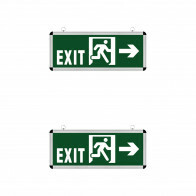 LED Noodverlichting Exit - 2 Pack - Rabonta Links/Rechts - Hangend - 3W